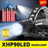 전조등 강력한 300000 LM XHP90.2 LED 헤드 라이트 XHP90 높은 전원 헤드 램프 방수 토치 USB 18650 충전식 배터리