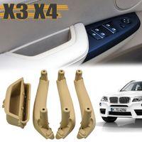 Auto Intérieur Poignée de porte gauche intérieur droit panneau de porte Poignée Garniture couverture pour BMW X3 X4 F25 F26 2010-2017 de haute qualité ABS