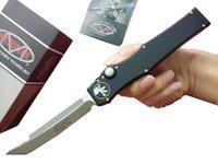 """Özel teklif! Kydex kılıf ile MT Microtech Halo V Tanto Bıçak (4.6"""" Saten) 150-5 tek eylem oto Taktik bıçak Survival dişli bıçaklar"""