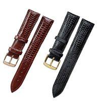 Assista Bandas Moda Lagarto Textura de Couro Watchband Pin Buckle Strap para mulheres e homem 12mm 14mm 16mm 18mm 20mm 22mm 24mm