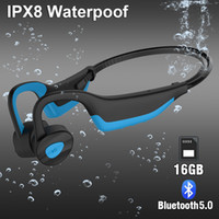 IP68 a prueba de agua Natación K7 jugador MP3 Bluetooth Auriculares Sport Auriculares inalámbricos Auriculares de conducción ósea Ejecución de buceo auriculares estéreo