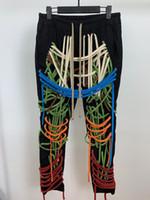 2020 Herbst-Frühling-neue Art und Weise Hosen Männliche reines Handbaumwollseil Webstuhl Auto Hose elastische Hose männlich Mann Jeans