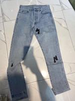 2020 Paris Itlay Skinny Jeans Rahat Sokak Moda Cepler Sıcak Erkek Kadın Çift Dış Giyim Ücretsiz Gemi ZDL0626.