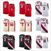 Hommes Femmes jeunes enfants Clyde Drexler 22 Carmelo Anthony 00 Cousu Basketball Jersey Hommes Damian Lillard 0 CJ 3 McCollum Rip Shirt Ville
