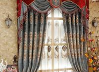 2020 heißer Verkauf neuer Garten Vorhang Shading Stoff europäischen Stil Gestickte Wohnzimmer Vorhang fertigen Produkt