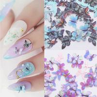 100 Pz farfalla del chiodo di arte della decorazione 3D fai da te Paillettes Fiocchi Emulational Natale di fette Tips Accessori Manicure