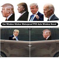 2020 اللوازم ترامب الانتخابات الشارات ملصقات السيارات بايدن مضحك يسار يمين النافذة تقشر للماء PVC السيارات حزب نافذة ملصق مائي 60PCS