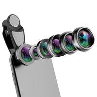 Telefone Camera Lens, 6 em 1 Celular Lens Kit Para E Android, Caleidoscópio Grande Angular + Macro Cpl Fisheye Telefoto Zoom Ph