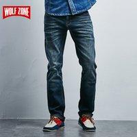 Erkek Kot Erkekler Tasarımcı Pamuk Homme Erkek Giyim Katı Orta Orta Ağırlığı Kış Sonbahar Tam Boy Jean