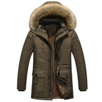 Fur Coats Men Winter Thick Long Jacket Man Plus Velvet Hoode...
