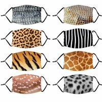 3D-печати Дизайнерская Маски с фильтром Карманный Тигр Leopard Design Funny Face Mask Защитные ушные висящих Покрытие лица сопроводительные Маски DHF1564