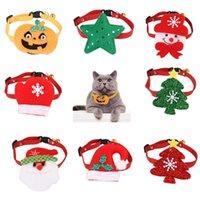 لطيف عيد ميلاد سعيد القطة الياقة ثلج الياقة السنة الجديدة سانتا كلوز الحيوانات الأليفة القط الكلب ملحقات هدية