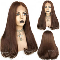 Brazilian Straight Lace Front Wigs With Baby Hair Density 150 New Trend T Part Human Hair Wig Colored 4 Wigs Remy For Woman
