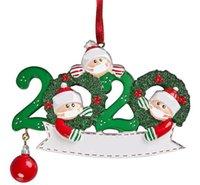 Горячие Главная Праздничные рождественские украшения украшения Деревянные снеговика семья Рождество висит кулон Xmas Tree Санта Клаус Подвесной с маской