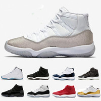 11 Bred Mens Basketball shoes Metallic Silver WMNS 11s Loyal...