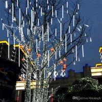30CM 50CM 80CM ماء 8/10 أنبوب النيزك دش المطر عيد الميلاد أضواء LED سلسلة في الهواء الطلق جارلاند الزفاف للحصول على حديقة الديكور CRESTECH