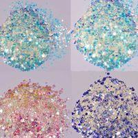 Mermaid Chunky Glitter 1kg in opp sacchetto viso, corpo, occhi, nail festival Chunky olografico glitter dimond bulk cmd2358