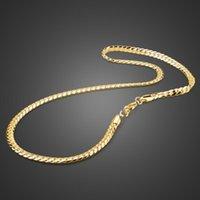 الجديدة سلسلة القادمون 6MM شقة السوط الرجال قلادة فضية 925 الفضة للرجال مجوهرات الأزياء قلادة ربط سلسلة أفضل هدية