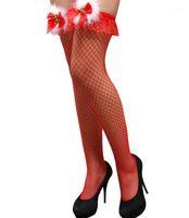 Medias para mujer arco de la manera atractiva de la Navidad Las medias de seda informal de Navidad Día de Navidad cosplay Día de la Mujer diseñador