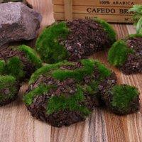 Decoratieve bloemen kransen 6 stks / pak nep rock groen schuim mos steen kunstbloem hout chip micro-landscap gras plant huisdier speelgoed thuis g