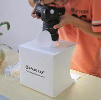 Mini Schießen Licht Boom 20cm klappbaren tragbaren Licht-Foto-Studio-Schießen-Zelt-Kasten-Set mit 6 Farben 1pcs Backdrops LED Panel