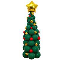 203PCS /セットクリスマスの装飾クリスマスプレゼント装飾アルミフィルムラテックスとクリスマスパーティー風船のための枠線