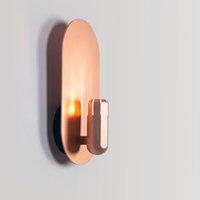 nórdico pared metálica moderna lámpara de pared minimalista restaurante de la barra de metal de noche LED Light Hotel Pasillo pared del arte de la decoración de lámparas
