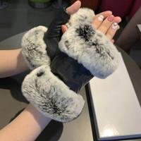 새로운 모피 가을 겨울 여성 의류 양피 장갑 선물 상자 따뜻한 패션 장갑