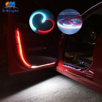 2X Auto-Tür-Warnung Blitzlicht DC12V 120cm LED Lampen-Streifen Flexible Dekorative Streamer Licht Dual Color WhiteRed Ice bluered