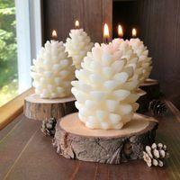 3D Natal pinho cone silicone molde de vela DIY ARomatherapy Velas de aromaterapia Beeswax velas de pinecone fazendo mofo