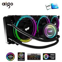 Ventilateurs de refroidissement Aigo Darkflash Refroidissement d'eau AIO PC RVB RADIATEUR DE COLLETTE THERMIAIRE CPU CPU HearSink pour LGA 775/1151/1366/2011 / Am3 + / Am4