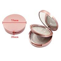 Rose Gold Round Eyelash Packaging Boxes With Mirror False Eyelashes Packaging Box 2 Pair Plastic Lashes Box Empty Eyelash Box Case RRA3637