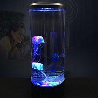 Decoration Tower Dropshipping1 Home Night Saving Jellyfish Bedside Lamp Light Super Power USB Aquarium Change LED Hglts