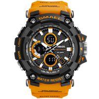 Mayforest 스포츠 시계 듀얼 타임 남성 시계의 50m WaterproofMale 시계 군사 시계 남성 1802D 충격 Resisitant 스포츠 시계 선물에 대한