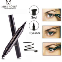 Eye-liner 2in1 noire crayon maquillage timbre de maquillage liquide stylo étanche imperméable à double tête à deux têtes fines à oreilles cosmétiques