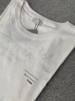 Мужская футболка Мужчины Свободные тройники Письма Кривая Печатание Летние Дышащие короткие рукава Топ Продам футболку Азиатский Размер