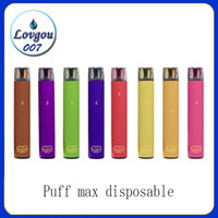 Puff Max jetable Vape Pen Kit 2000 Puffs 5% 1200mAh Supply usine d'expédition 8,5 ml rapide e cig Onee bâton