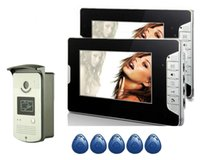 Videocamera Phones Yobang Security Sicurezza RFID Controllo accessi 7''inch Telefono cablato Sistema di telefono Visual Intercom Kit fotocamera del campanello del campanello