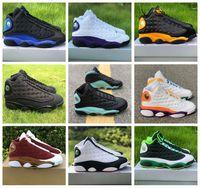 13 13s 2020 New Jumpman Basketball Chaussures Taille US 13 des femmes des hommes chanceux vert Soar Lakers Terrain de jeu Sports Sneakers Formateurs