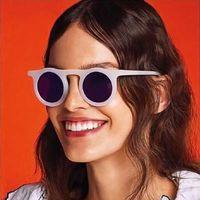 Gafas de sol 2021 Estilo redondo de lujo Marco retro Jelly Color Personalidad Tendencia Unisex Minimalista Hip Hop Glasses UV