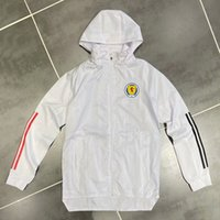 Yetişkin 20 21 İskoçya rüzgarlık ceket 2020 2021 Kapüşonlular Sports ceketler Kapşonlu fermuar palto Running Erkekler Ceketler