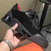 تصاميم جديدة عارضة أحذية منخفضة منخفضة الرجال الأحمر أسفل أوريلين حذاء رياضة شقة مع جودة عالية في الهواء الطلق رياضية الترفيه الشقق Luxey رجل حذاء EU38-46
