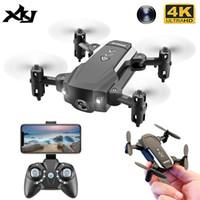 4K HD 카메라가있는 XKJ 미니 드론 WIFI FPV Foldable Quadcopter Gravity 센서 Dron One Key Return 헬리콥터 장난감 어린이를위한