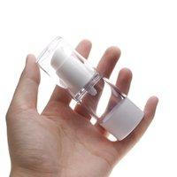 15ML Transparent Refillable Empty Plastic Perfume Bottles Airless Pump Vacuum Containers For Cosmetics Travel Dispenser