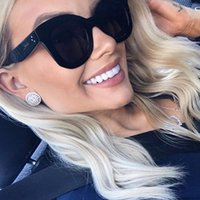 Sunglasses 2021 Fashion Female Rivet Shades Big Frame Style Women Designer Vintage Sun Glasses
