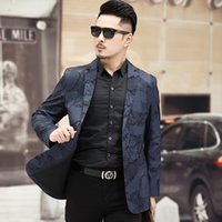 2020 Autumn and Winter New Style MEN'S Suit Coat Young and Middle-aged Business Casual Trend bian xi Men'S Wear Slim Fit Suit
