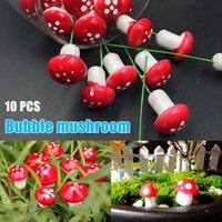 HOT 인공 미니 버섯 시뮬레이션 공장 마이크로 가로 화분 장식 공예 정원 테라리움 수지 TI99