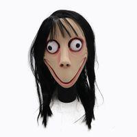 МОМО маска Halloween Party Scary розыгрыши испуг маска с Парик Хэллоуин волос реквизита Safe Emulsion ткань