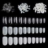 False Nails 600pcs / Box Nail Art Suggerimenti bara Tip Punta Flat Forma Full Cover Manicure Falso Strumenti rotondi