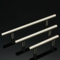 T Tipi Dolap Paslanmaz Çelik Dolap Kapı Çekmece Pulls Dolap Ayakkabı Mutfak Dolapları Mutfak Aksesuarları HHF1729 kolları
